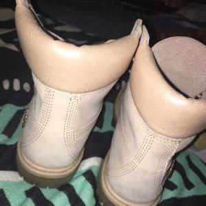 Light pink timberland boots